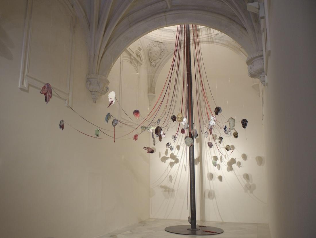 Nancy Spero, Maypole: Take No Prisoners, 2007. Courtesy of Galerie Lelong.