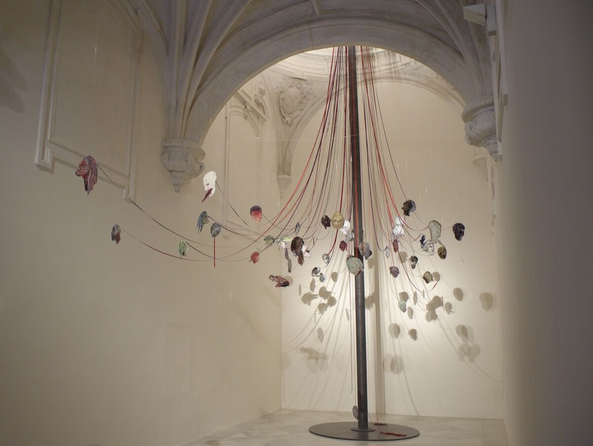 Nancy Spero, Maypole: Take No Prisoners, 2007. Courtesy of Galerie Lelong.