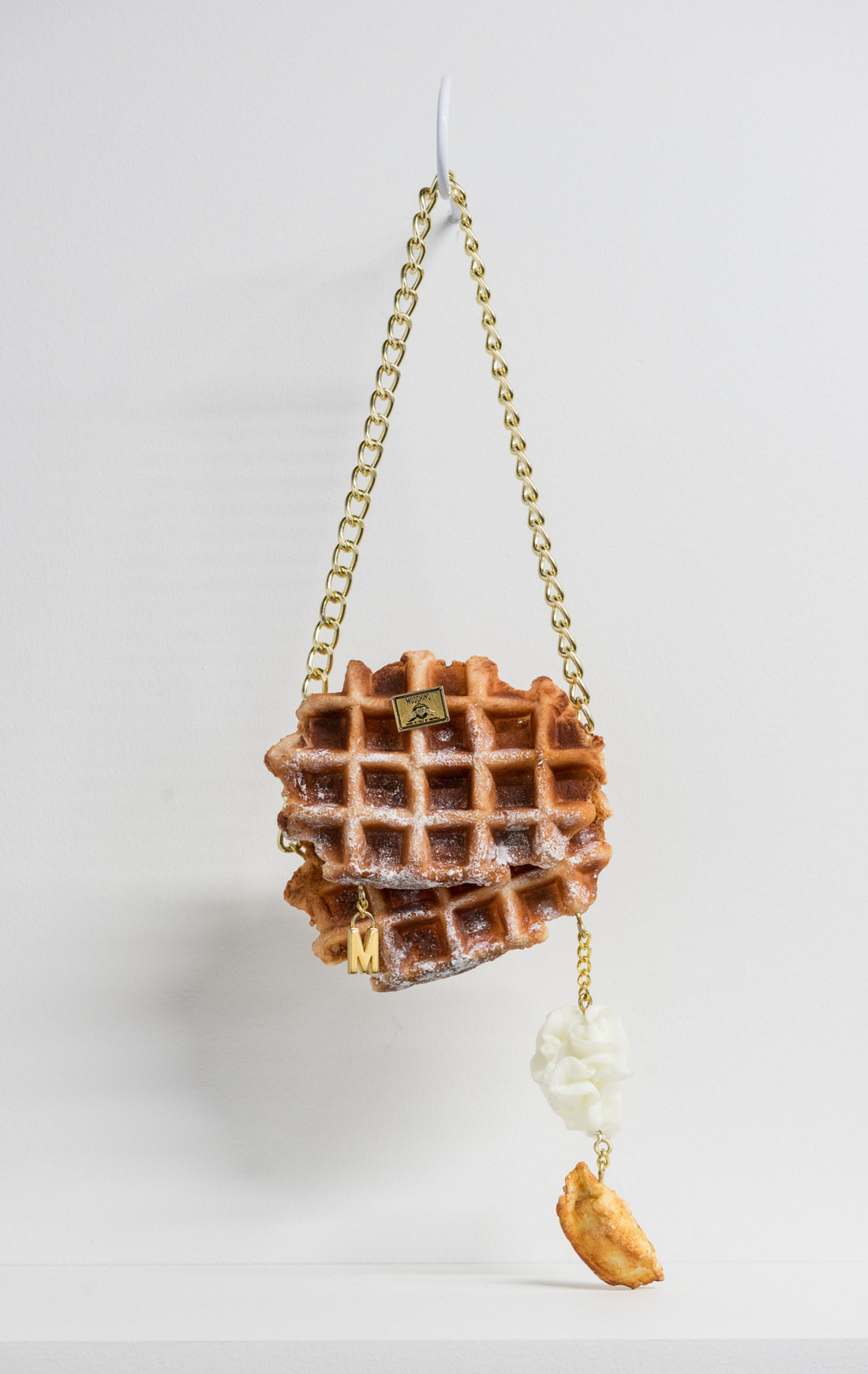 Moschino Belgian Waffles bag by Chloe Wise. Photo courtesy of the artist and Division Gallery.