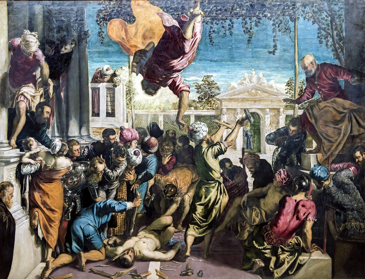 Tintoretto, Miracle of the Slave, 1548. Image via Wikimedia Commons.