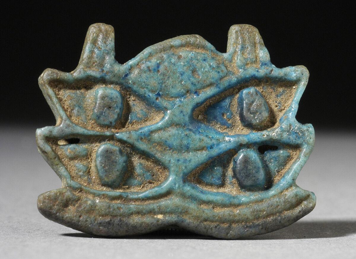 Multiple Eye of Horus Amulet, Egypt, 724-31 B.C.E. Photo via the Los Angeles County Museum of Art.