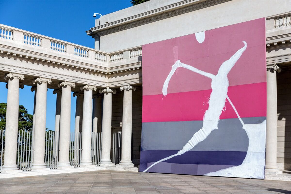 "Installation view of ""Julian Schnabel: Symbols of Actual Life,"" at the Legion of Honor, San Francisco, 2018. Photo by Moanalani Jeffrey. Courtesy of the Fine Arts Museums of San Francisco."
