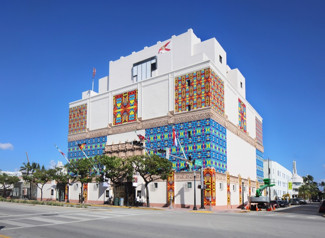 Work by Christie van der Haak covers the exterior of The Wolfsonian. Photo courtesy of The Wolfsonian.