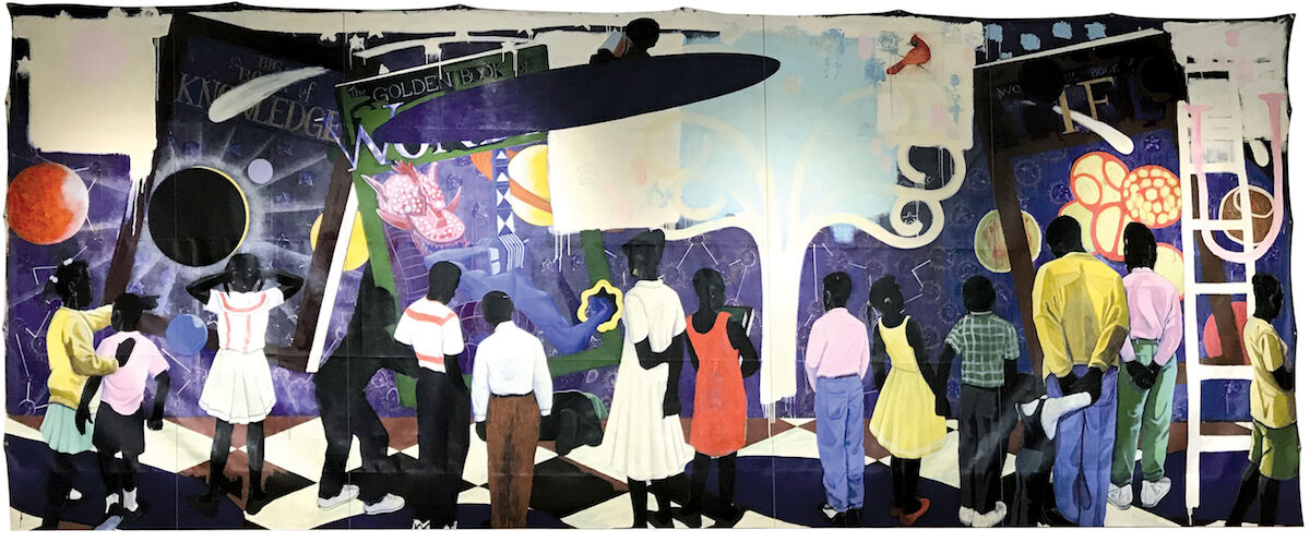Kerry James Marshall, Knowledge and Wonder, 1995, est. $10,000,000–15,000,000. Image courtesy Christie's.