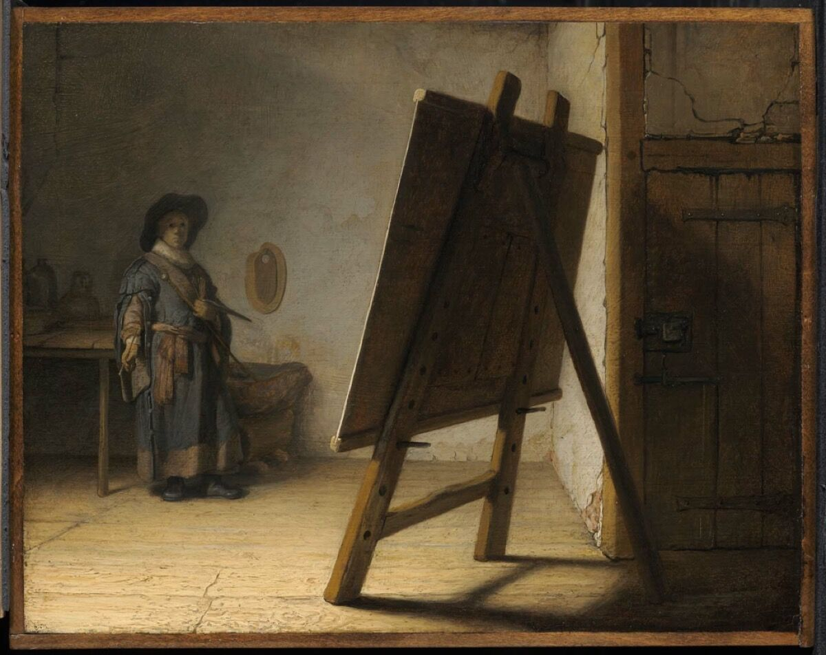 Rembrandt van Rijn, Artist in his Studio, ca. 1628. Courtesy Museum of Fine Arts, Boston
