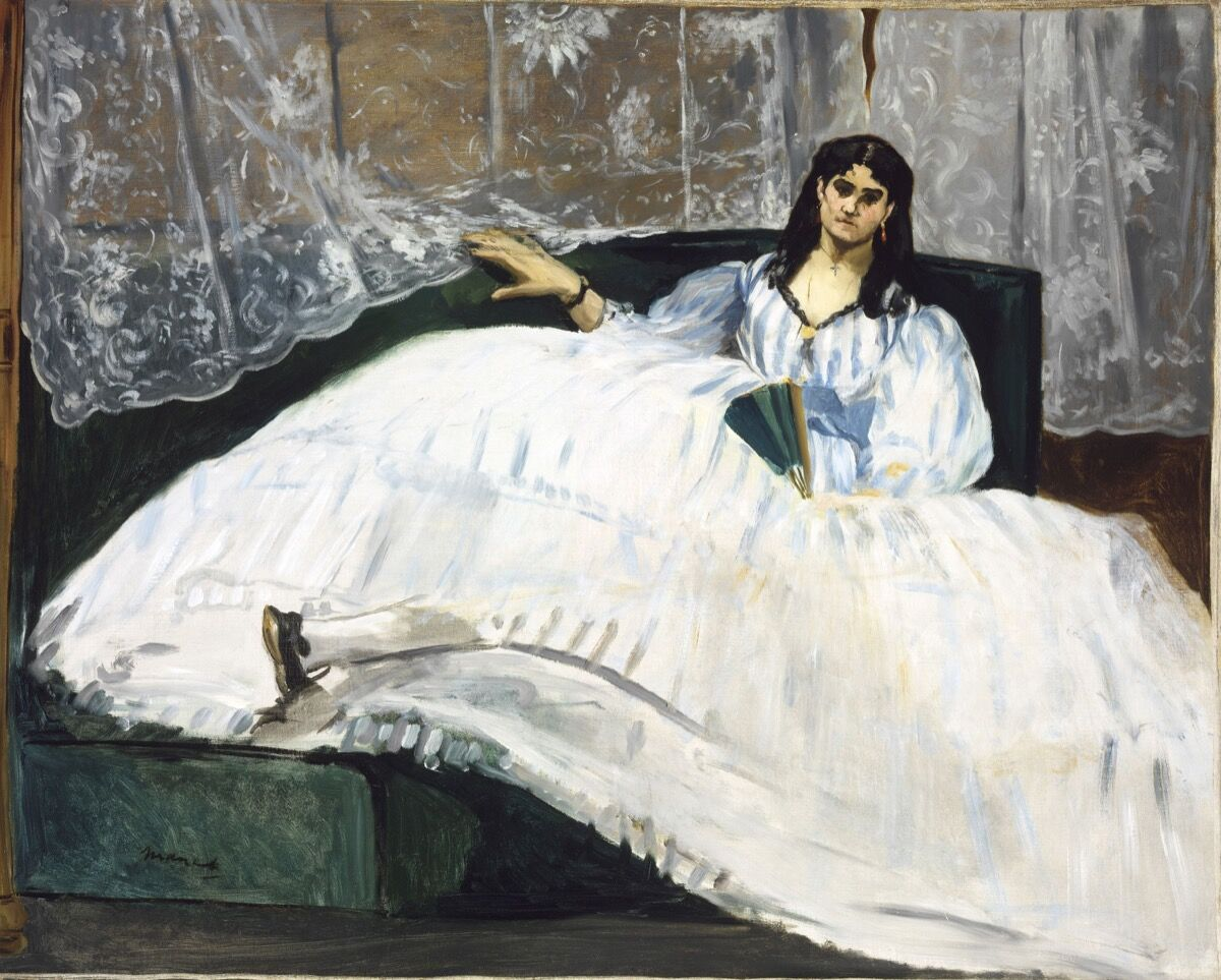 Édouard Manet, Baudelaire's Mistress (Portrait of Jeanne Duval), 1862. Photo by Csanád Szesztay. © The Museum of Fine Arts Budapest / Scala / Art Resource, NY.