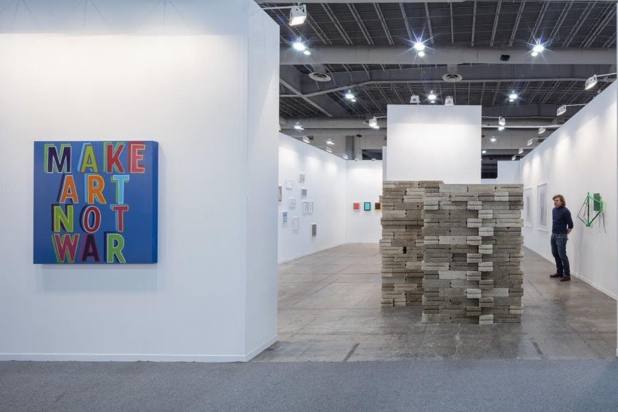 Installation view of von Bartha's booth at ZsONA MACO, 2016. Courtesy of the gallery.