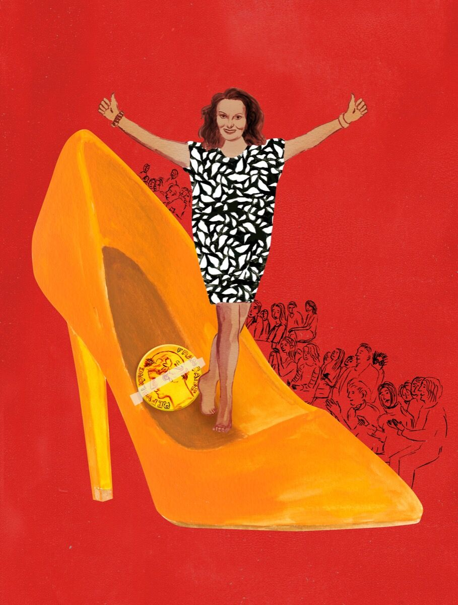 Illustration of Diane von Furstenberg, excerpted from Ellen Weinstein's Recipes for Good Luck, 2018. Published by Chronicle Books.