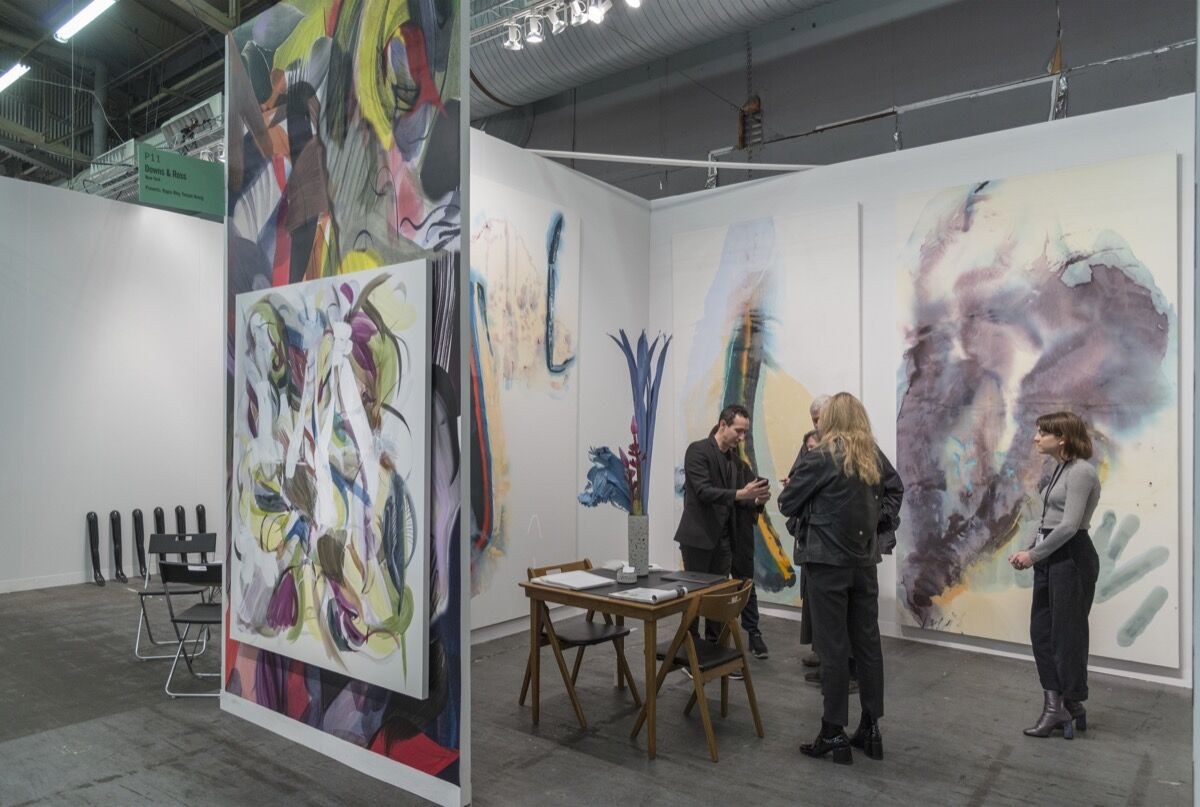 Installation view of Downs & Ross's booth at The Armory Show, 2017. Photo by Adam Reich for Artsy.