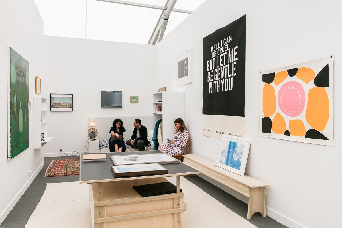 Installation view of CANADA's booth at Frieze New York, 2017. Photo by Mark Blower, courtesy of Frieze.