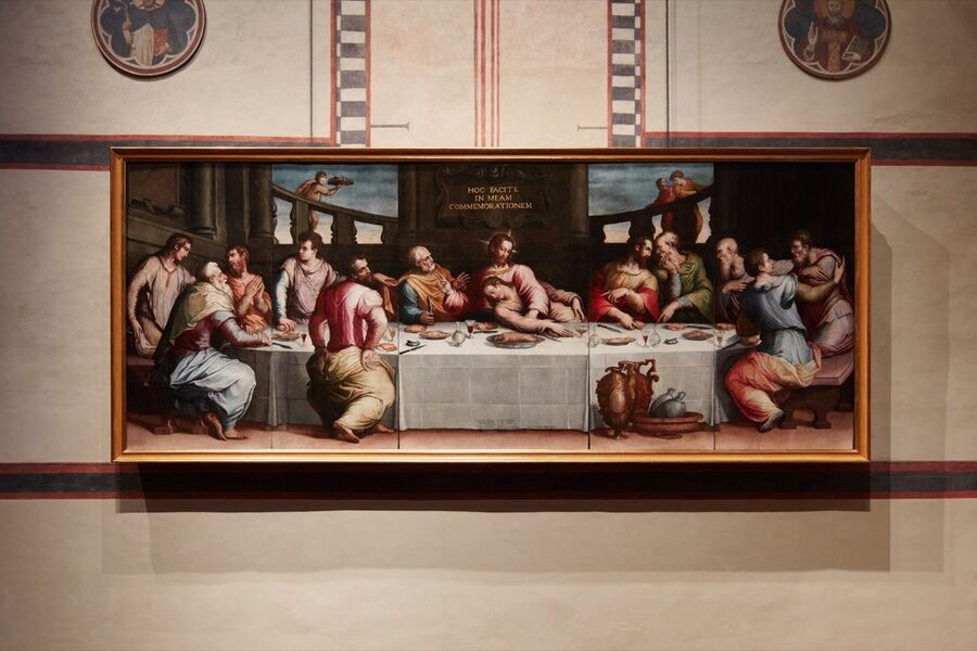 Giorgio Vasari, Last Supper, 1546. Photo by ZEPstudio/Opera di Santa Croce.