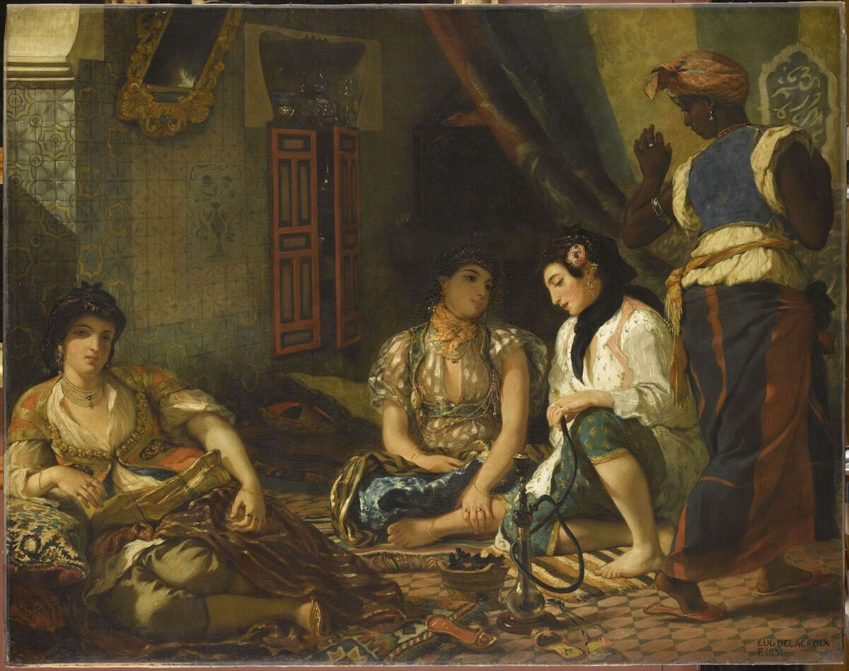 Eugène Delacroix, Women of Algiers in Their Apartment, 1834. Photo by Franck Raux. © RMN-Grand Palais / Art Resource, NY. Courtesy of The Metropolitan Museum of Art.