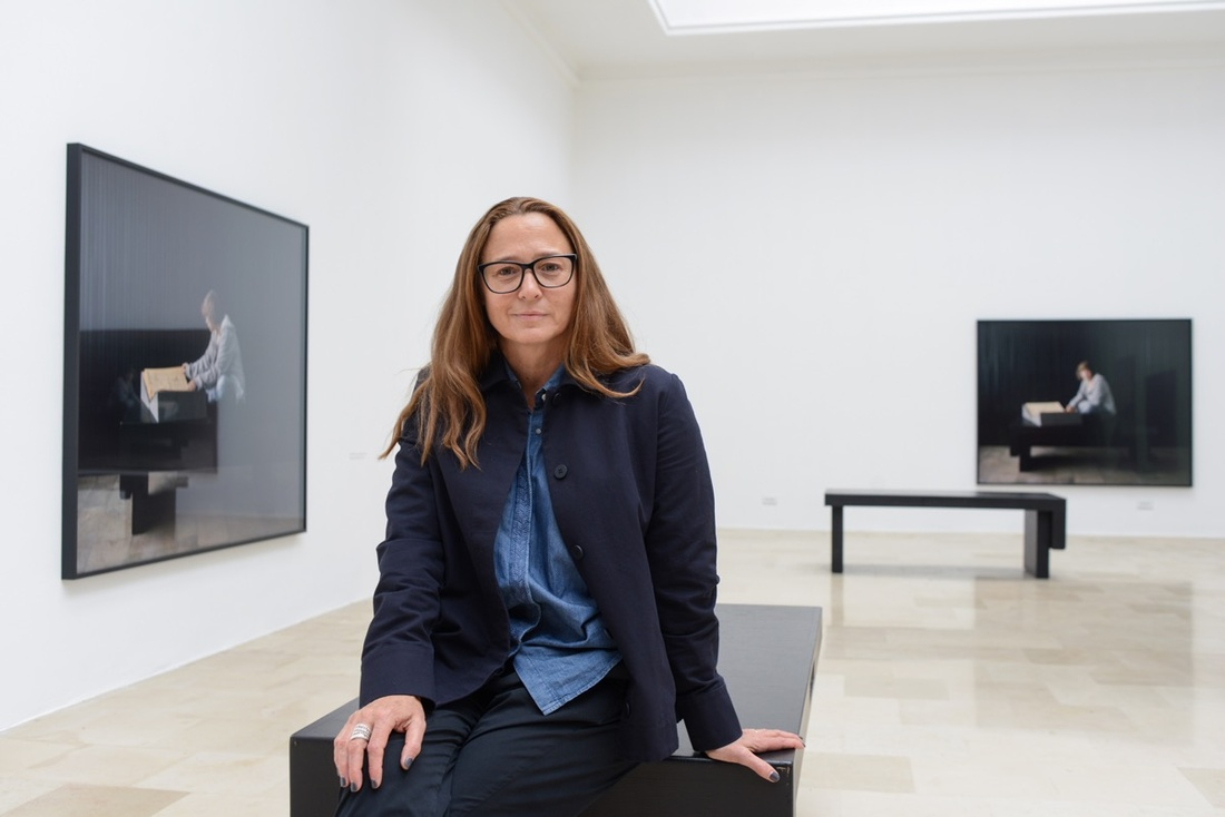 Portrait of Sharon Lockhart in the Polish Pavilion at the 57th Venice Biennale, 2017. Photo by Casey Kelbaugh for Artsy.