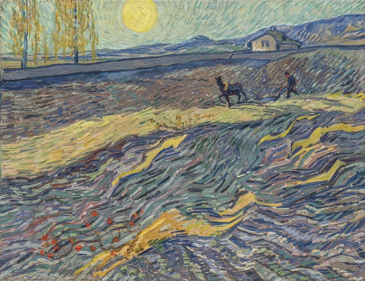 Vincent van Gogh, Laboureur dans un champ, 1889. Courtesy of Christie's.