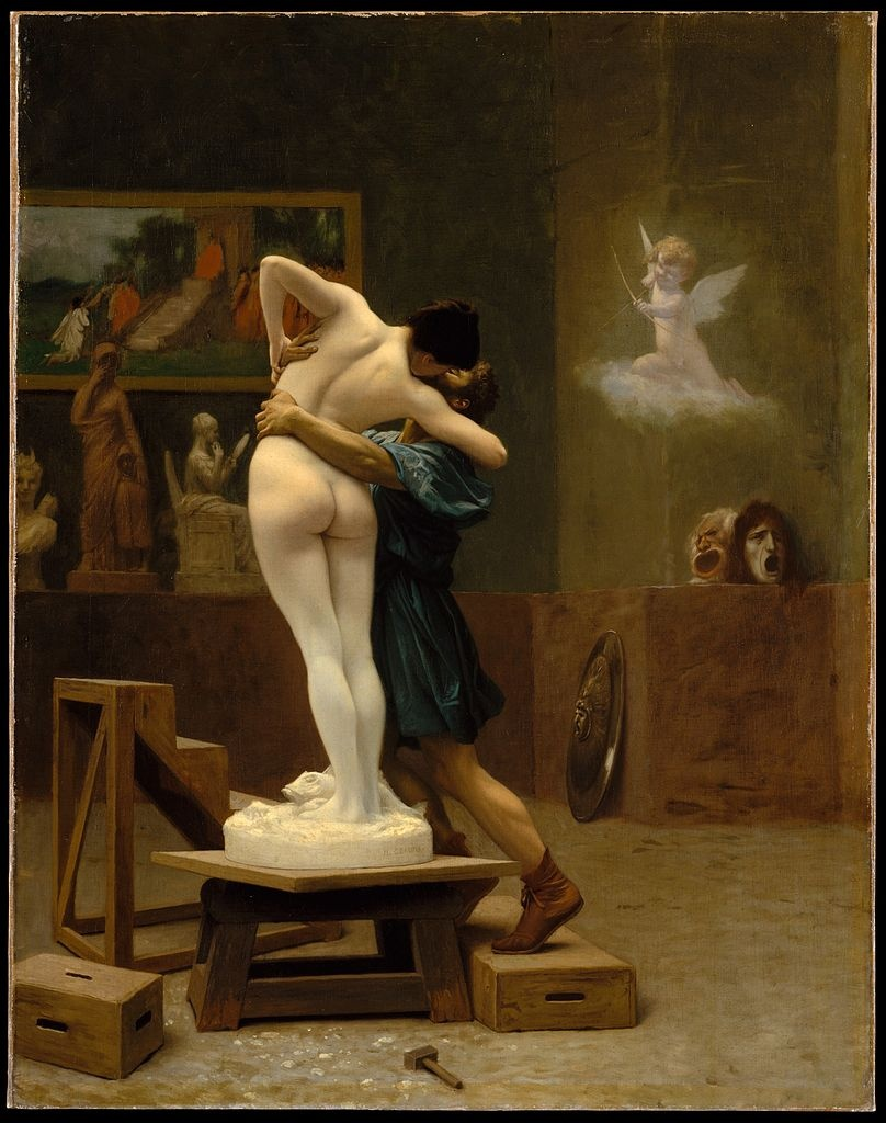 Jean-Léon Gérôme, Pygmalion and Galatea, ca. 1890. Image: Wikimedia Commons