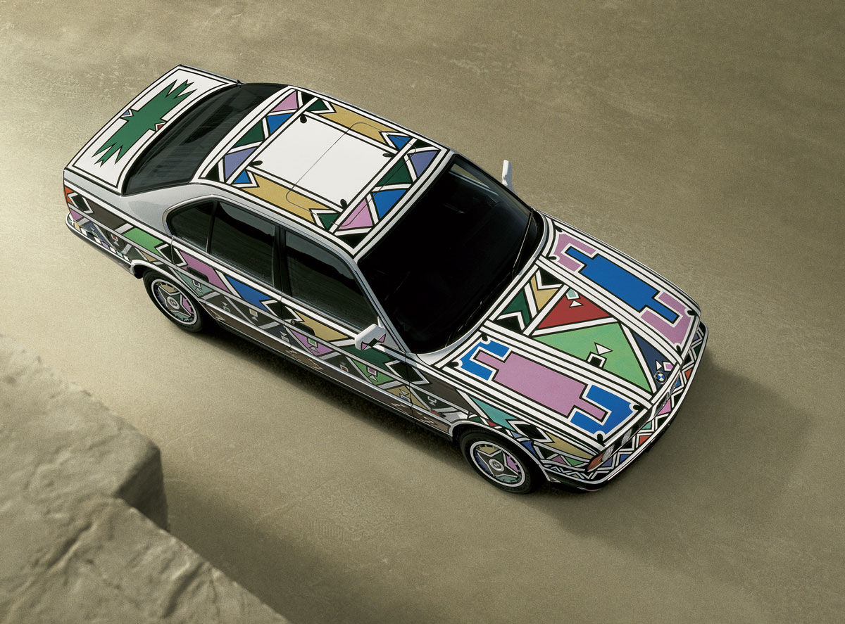Esther Mahlangu's 1991 BMW Art Car. Photo courtesy of BMW.
