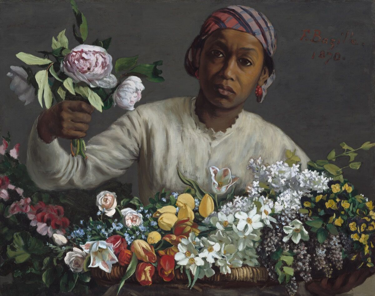 Frédéric Bazille, Young Woman with Peonies, 1870. Courtesy of the National Gallery of Art, Washington, D.C.