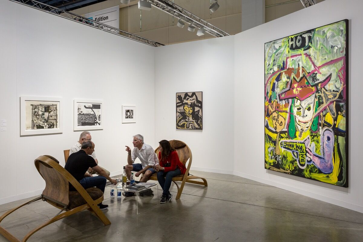 Installation view of David Nolan Gallery's booth at Art Basel in Miami Beach, 2016. Photo by Alain Almiñana for Artsy.