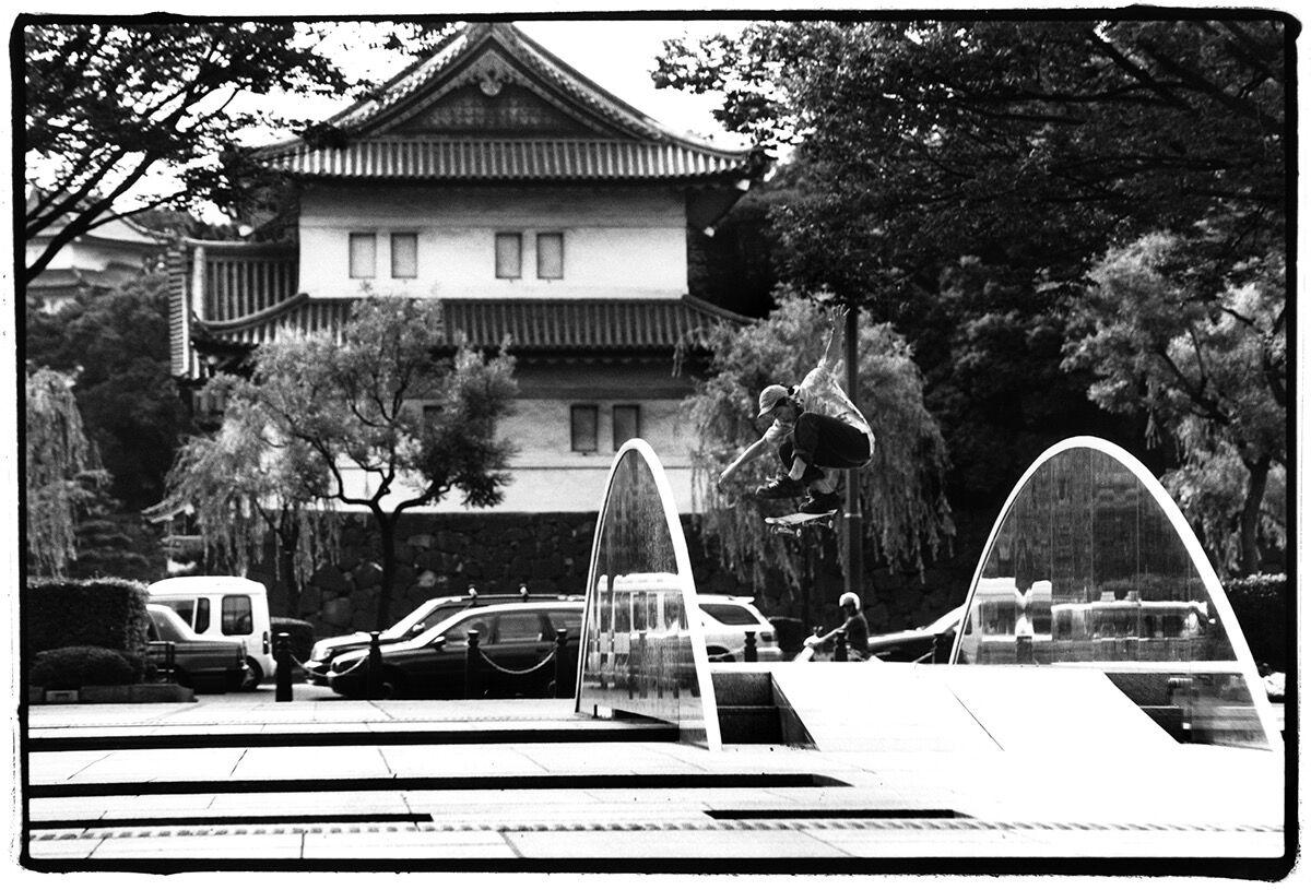 Yuri Shibuya, Hisashi Nakamura, Kickflip, near Imperial Palace, Tokyo, 2006. Courtesy of the artist.