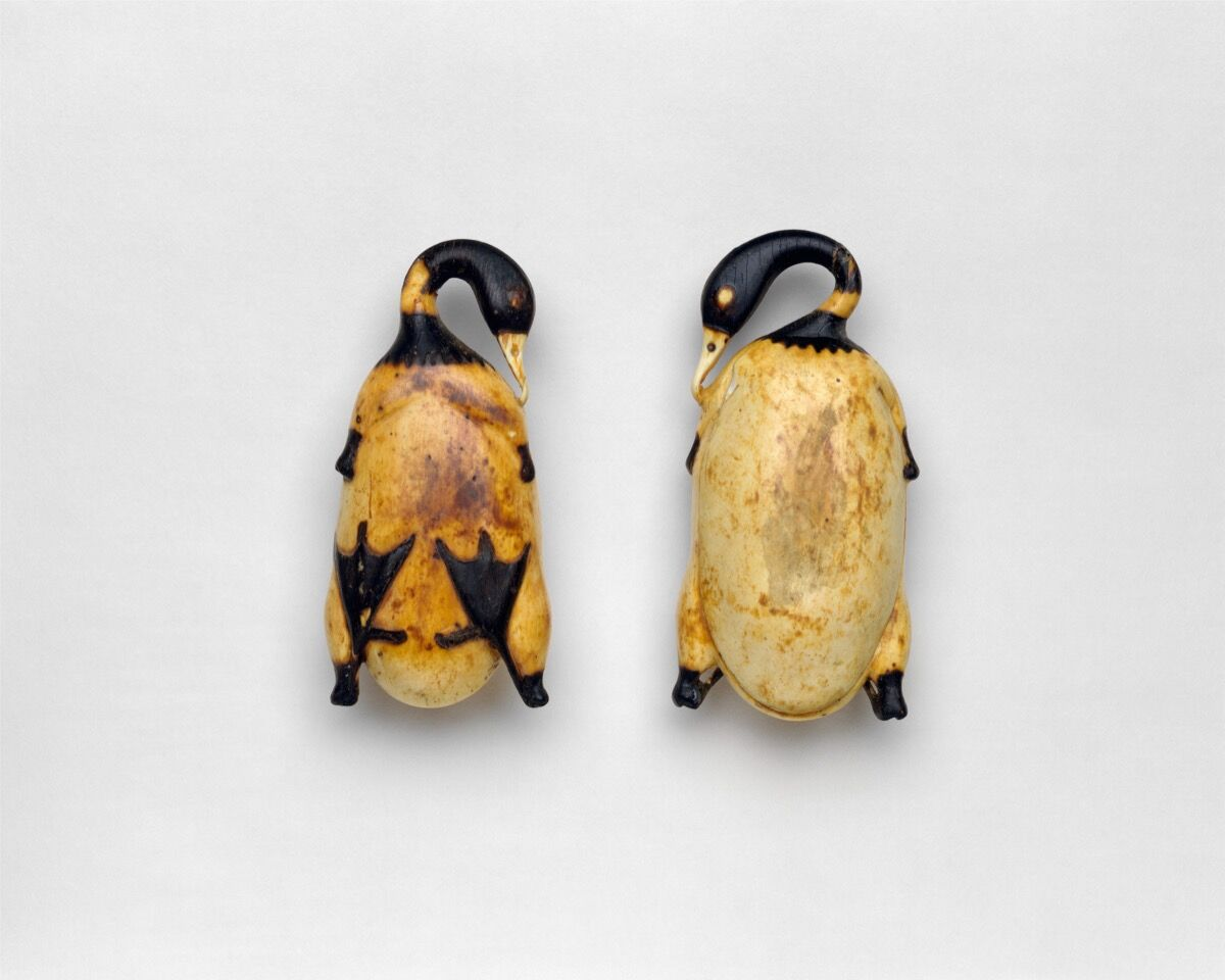 Cosmetic Dish in the Shape of a Trussed Duck, ca. 1353–1327 B.C.E. Courtesy of the Metropolitan Museum of Art.