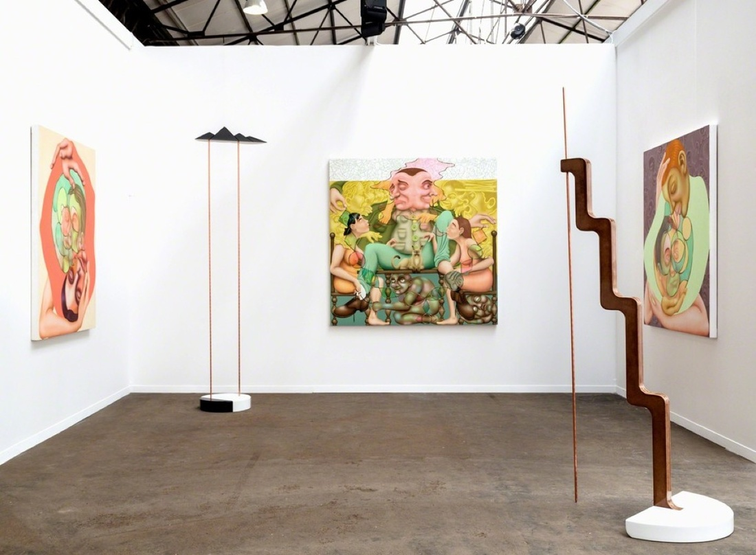 Installation view of Shulamit Nazarian's booth at Art Brussels, 2017. Courtesy of Shulamit Nazarian.