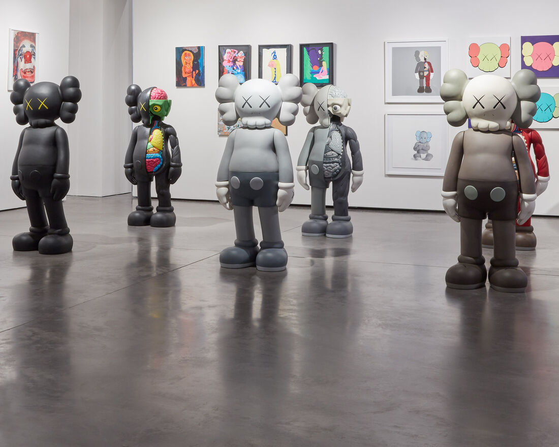 Works by Jean Prouvé and KAWS, a frequent collaborator of Mr. Katayama's, feature prominently in his personal collection.