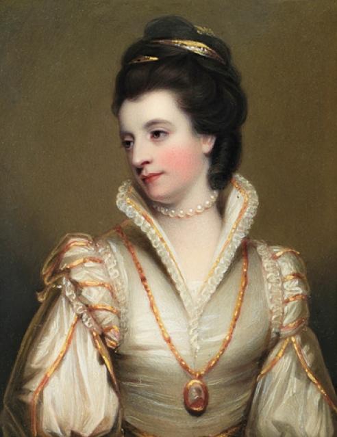 Henry Bone, R.A., Jane, Duchess of Gordon. IMAGE COURTESY OF ELLE SHUSHAN.
