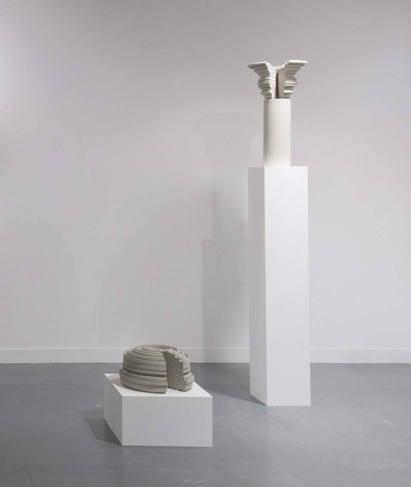 Nazgol Ansarinia, Pillars, 2014, installation view at FIAC OFFICIELLE 2014 courtesy of the artist and Green Art Gallery