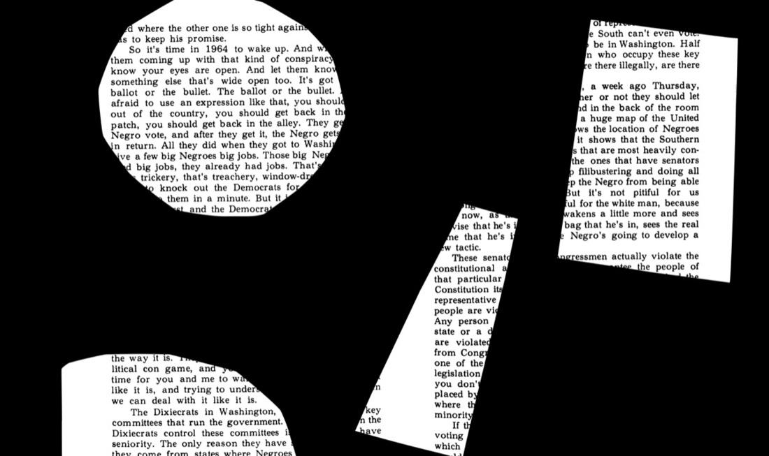 Background for Adam Pendleton's Frieze Project piece three scenes/the voice. Courtesy of Adam Pendleton.
