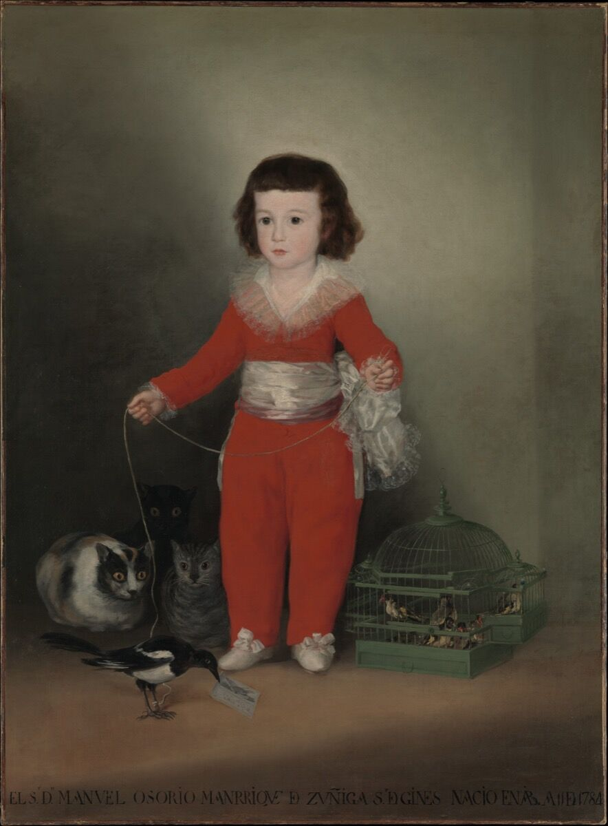 Goya, Manuel Osorio Manrique de Zuñiga, 1787-88. Image via the Metropolitan Museum of Art.