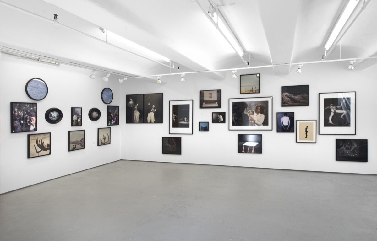 """Installation view of Carrie Mae Weems, """"Expectations,"""" 2012, at Jack Shainman Gallery. Photo courtesy of Jack Shainman Gallery."""