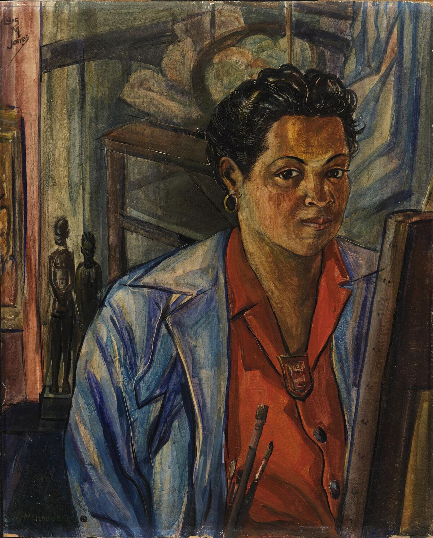 Loïs Mailou Jones, Self Portrait, 1940. Courtesy of the Smithsonian American Art Museum.