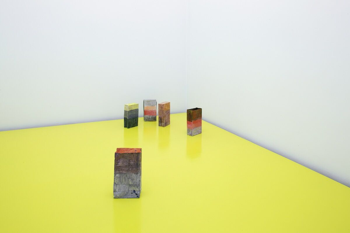 Installation view of Hayley Tompkins at Lulu, Mexico City, courtesy of Lulu.