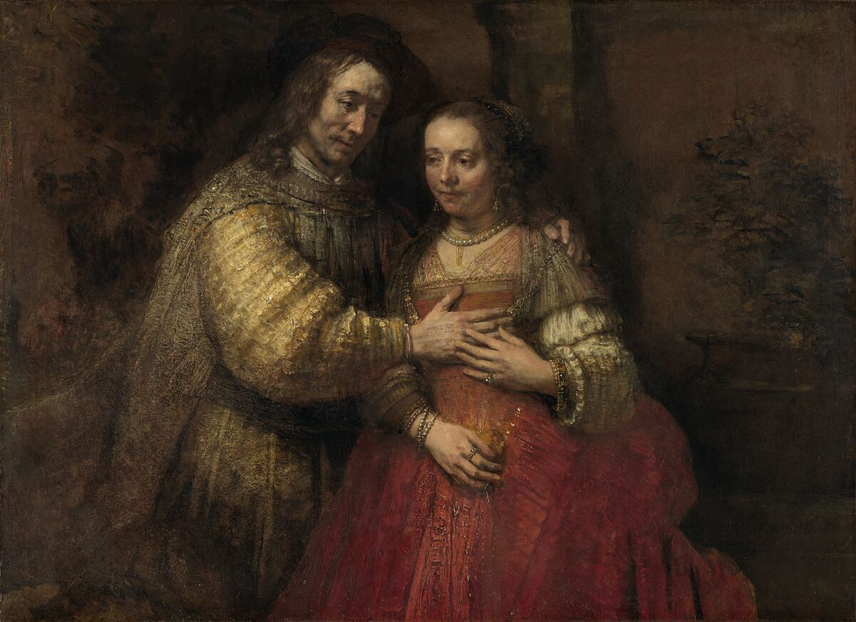 Rembrandt van Rijn, Isaac and Rebecca, known as 'The Jewish Bride,' c. 1665–69. Courtesy of the Rijksmuseum.