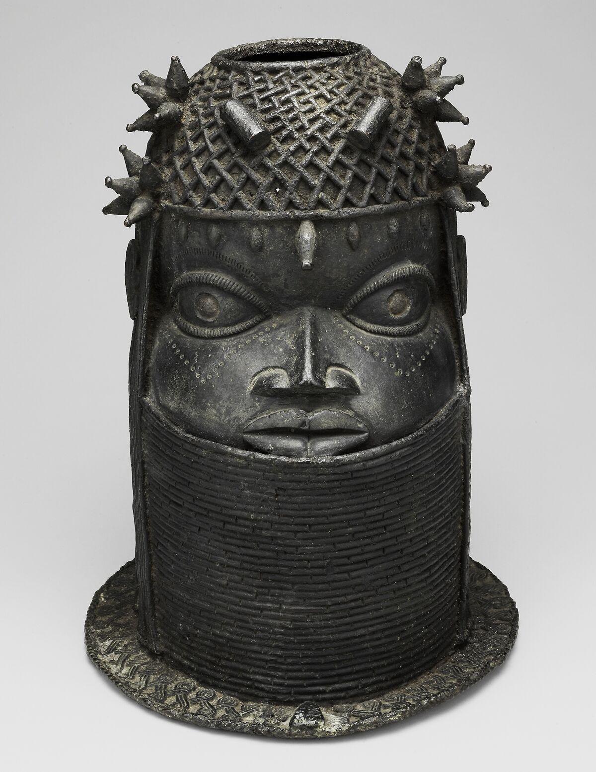 Head (Uhunmwun Elao), Edo, Kingdom of Benin, Nigeria, 1701–1825. Courtesy of The Art Institute of Chicago.