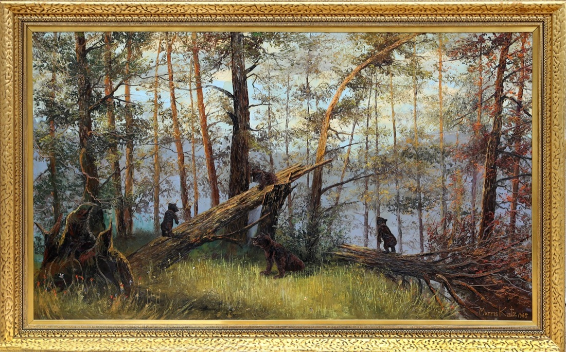 Morris Katz, Bears in the Forest, 1965. Available at RoGallery.com.