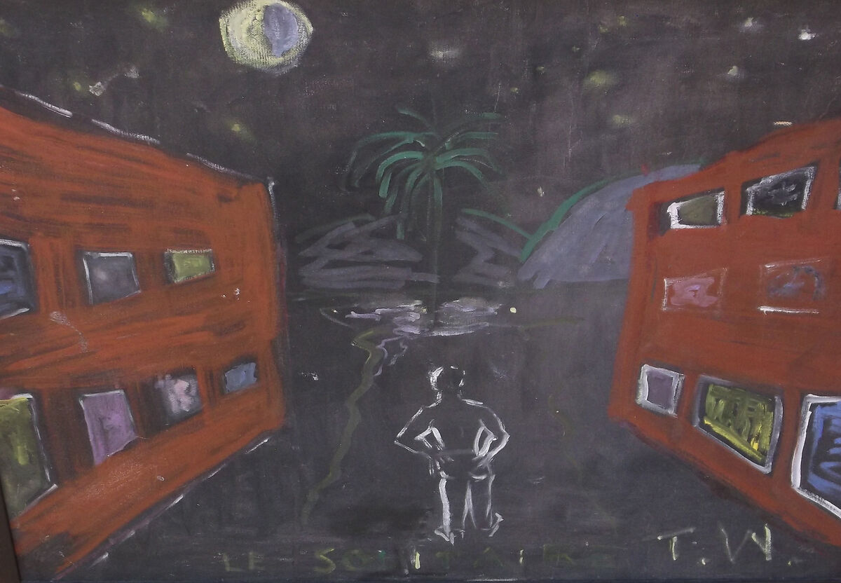 Tennessee Williams, Le Solitaire, 1977. On loan from David Wolkowsky. Courtesy of The Jewish Museum of Florida-FIU.