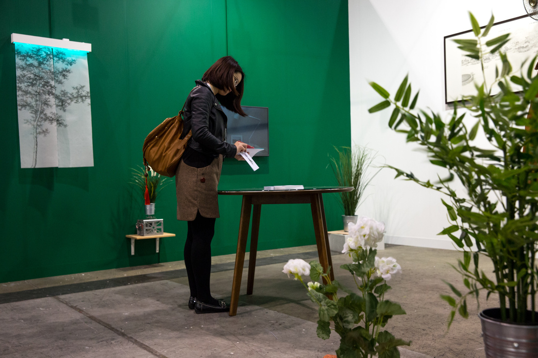 Installation view of a.m. space's booth at Art Basel in Hong Kong, 2016. Courtesy of the fair.