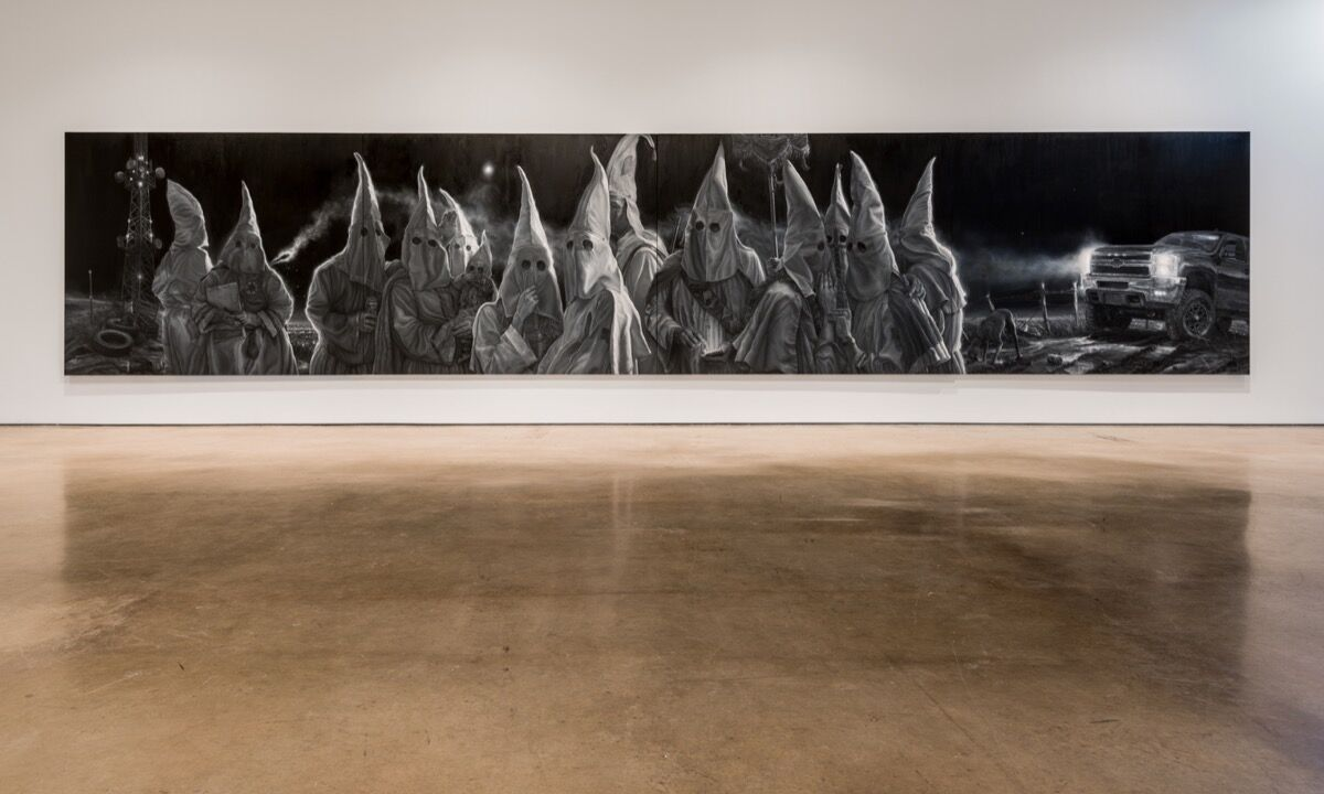Installation view of Vincent Valdez, The City I, at David Shelton Gallery, Houston, 2016. © Vincent Valdez. Photo by Peter Molick. Courtesy of the artist and David Shelton Gallery, Houston.