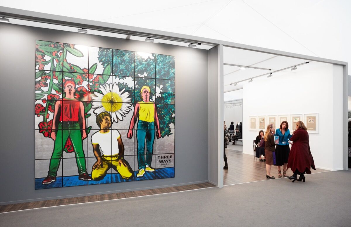 Installation view of Thaddaeus Ropac's booth at Frieze Masters, 2017. Photo by Tom Carter for Artsy.
