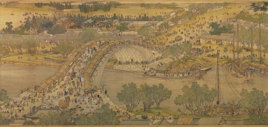 Zhang Zeduan, Spring Festival on the River (also called Along the River During Qingming Festival), 18th century copy after 12th century original by Zhang Zeduan. National Palace Museum, Taipei.