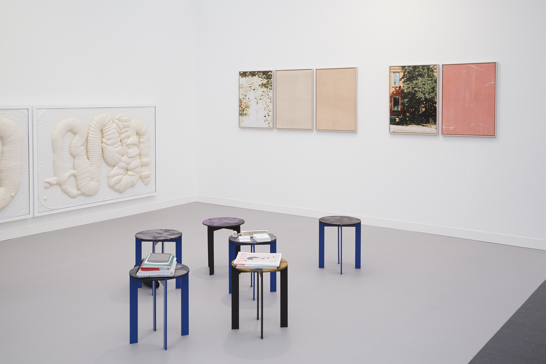 Installation view ofKoppe Astner's booth in the Focus sectionatFrieze London, 2015. Photo by Benjamin Westoby for Artsy.