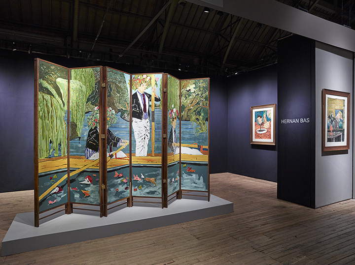 Installation view of Lehmann Maupin's booth at ADAA: The Art Show, 2016. Courtesy ofLehmann Maupin.