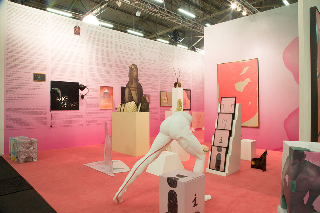 Galerie Thomas Schulte and Aanant & Zoo's booth at The Armory Show 2015. Photo by Christophe Tedjasukmana for Artsy