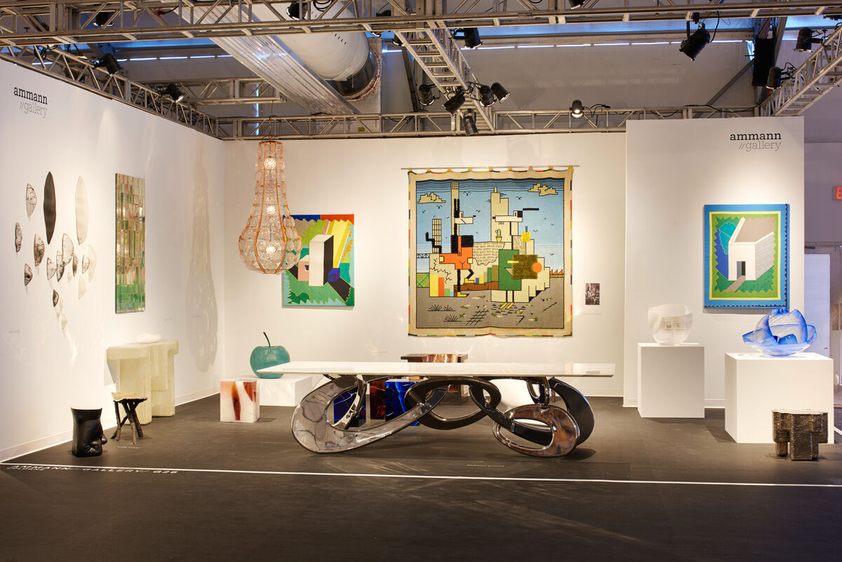 Installation view of ammann//gallery's booth at Design Miami/, 2016. Photo by James Harris, courtesy of Design Miami/.