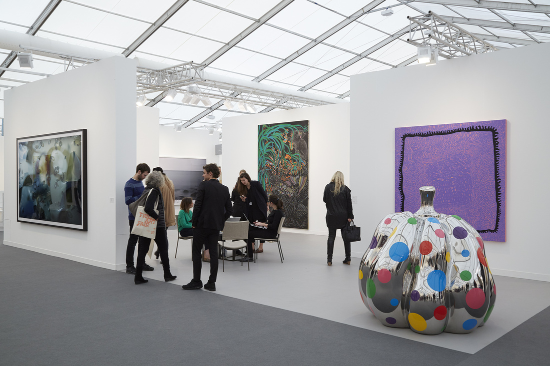 Installation view ofDavid Zwirner's booth atFrieze London, 2015. Photo by Benjamin Westoby for Artsy.