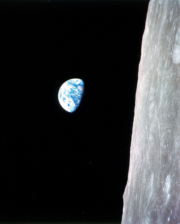 Earthrise-Apollo 8, 1968. Courtesy of NASA via Flickr.