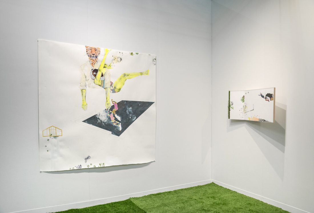 Installation view of Mariane Ibrahim Gallery's booth at The Armory Show, 2016. Photo by Adam Reich for Artsy.