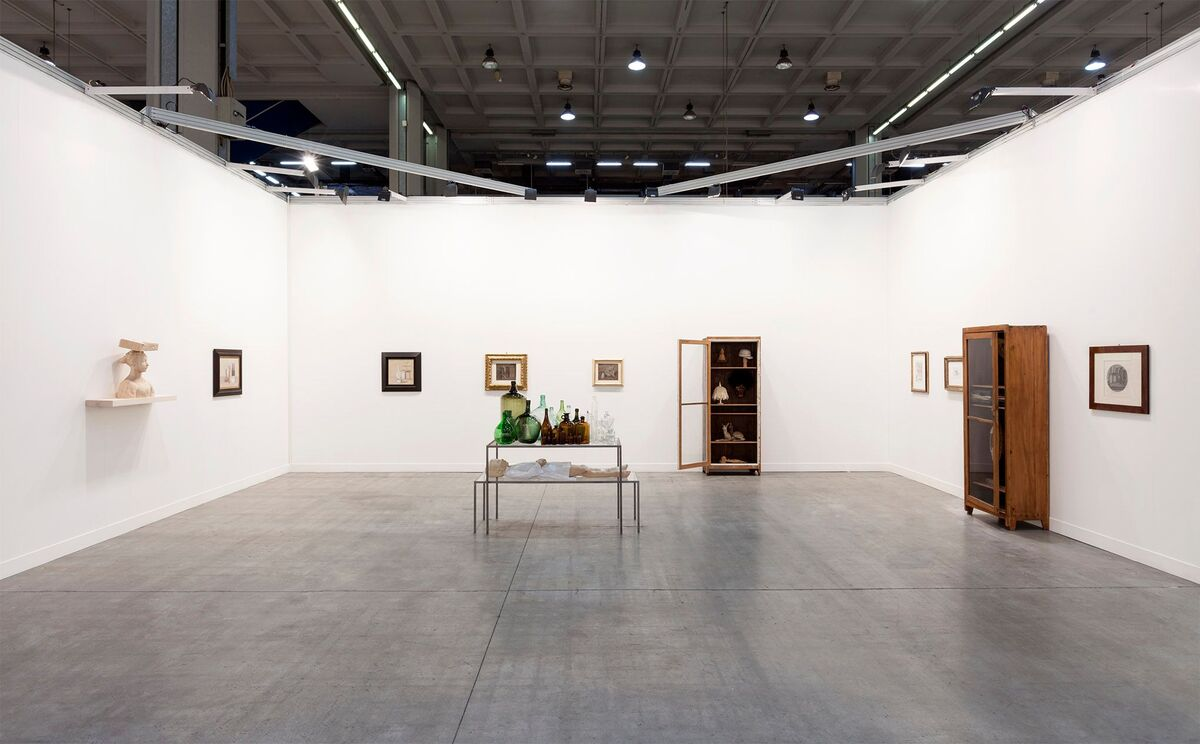 Galleria d'Arte Maggiore G.A.M. and Sadie Coles HQ's booth at miart 2015. Image courtesy of the galleries.