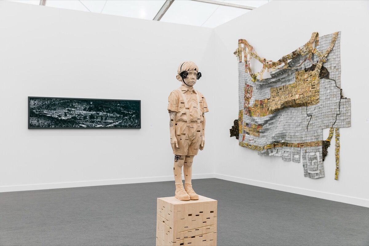 Installation view of Jack Shainman Gallery's booth at Frieze New York, 2017. Photograph by Mark Blower. Courtesy of Mark Blower/Frieze.